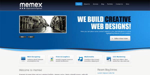 Тема для WordPress от ThemeForest: Memex