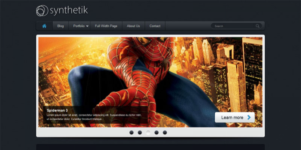 Премиум тема WordPress от ThemeForest: Synthetik