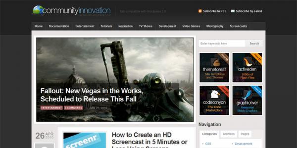 WordPress тема от ThemeForest: Community Innovation