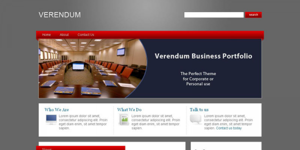 Бизнес тема для WordPress от ThemeForest: Verendum