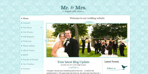 Шаблон женского блога WordPress от Templatic: Mr. & Mrs.