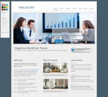 Шаблон для сайта бизнес тематики от Themeforest: MegaCorp