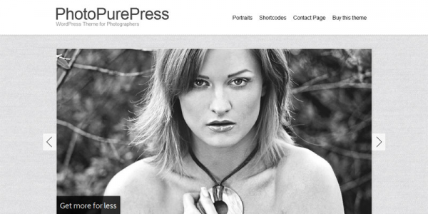 Шаблон для фото WordPress от Themeforest: PhotoPurePress