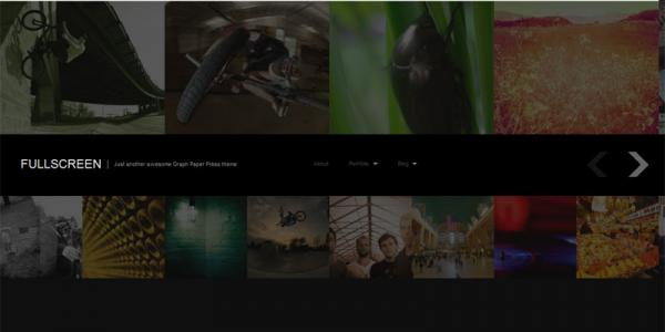 Портфолио шаблон WordPress от GraphPaperPress: Fullscreen