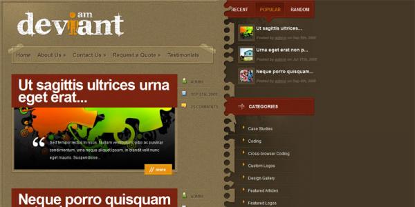 WordPress шаблон блога WP от ElegantThemes: Deviant