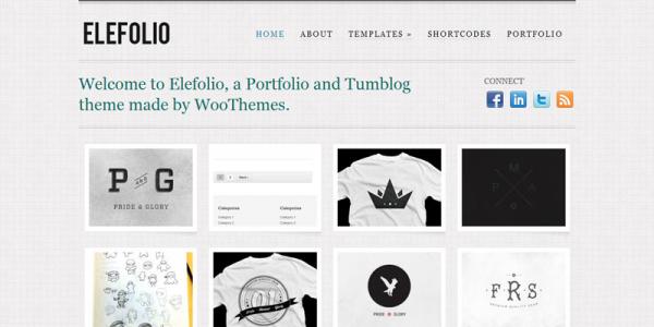 Премиум тема WordPress от WooThemes: Elefolio
