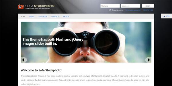 Премиум шаблон WordPress от ThemeForest: Sofa Stockphoto