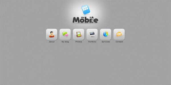 Шаблон сайта WordPress для мобильных устройств: My Mobile Page V2