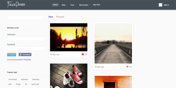 Премиум тема wordpress от Themeforest: FacePress