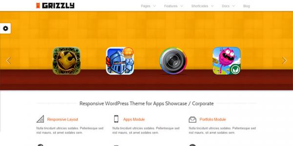 Бизнес шаблон WordPress от Themeforest: Grizzly