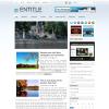 Голубая новостная тема wordpress: Entitle
