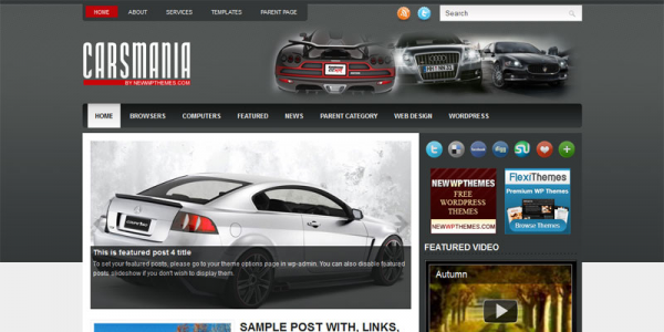 Автомобильная новостная тема: CarsMania