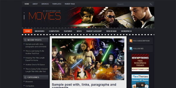 Кино шаблон для wordpress: iMovies
