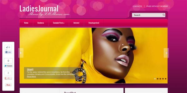 Женская новостная тема wordpress: LadiesJournal