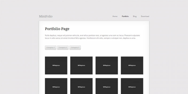 Портфолио шаблон для wordpress: MiniFolio