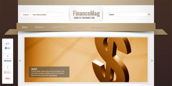 Бизнес новостной шаблон wordpress: FinanceMag