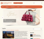 Элегантная wordpress тема: ClothingStore
