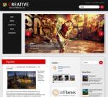 Креативный шаблон wordpress: Creative