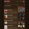 Тема wordpress для блога от ThemeForest: Filthy