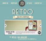 Ретро шаблон для wordpress от ThemeForest: Retro Portfolio