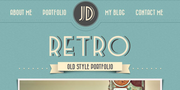 Ретро шаблон для wordpress от ThemeForest: Retro Portfolio