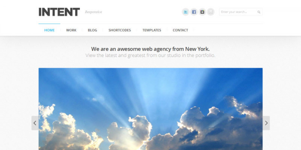 Премиум тема для WordPress от ThemeForest: Intent