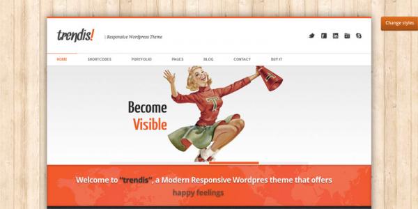 Премиум тема для WordPress от ThemeForest: Trendis