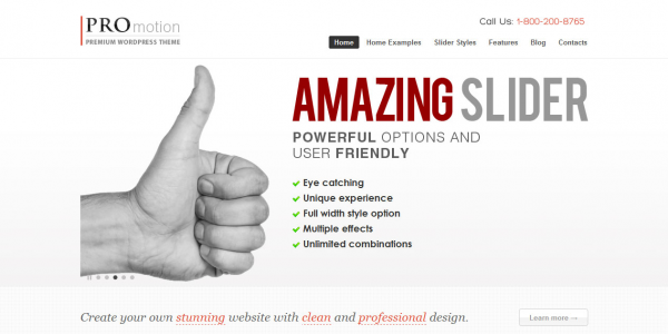 Премиум тема для WordPress от ThemeForest: ProMotion
