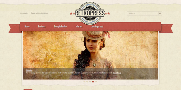 Ретро тема для wordpress от SMThemes: RetroPress