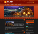 Праздничный шаблон wordpress: Halloween