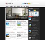 Новостная тема wordpress: Levita