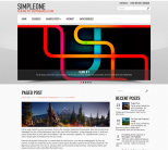 Креативный шаблон для wordpress: SimpleOne