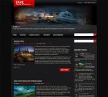Игровой шаблон wordpress: Tank