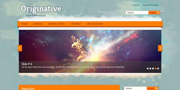 Яркий шаблон для wordpress: Originative