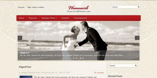 Женская тема для wordpress: Womanish