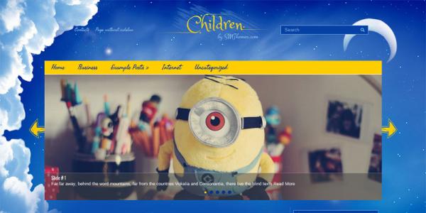 Детский шаблон для wordpress: Children