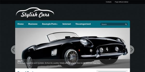 Автомобильная тема вордпресс: StylishCars