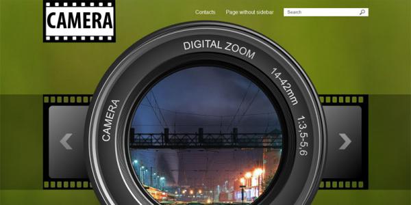 Фото шаблон для wordpress: Camera