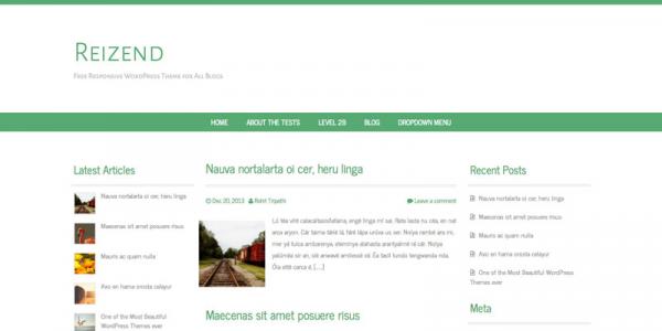 Блоговая тема для wordpress: Reizend
