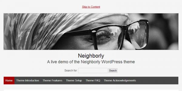 Серый блог на wordpress с темой Neighborly