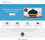 Голубая бизнес тема wordpress: Tatva Lite