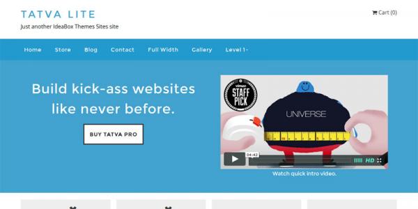 Голубая бизнес тема wordpress: Tatva Lite